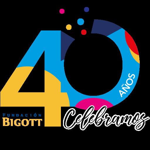 Logo en color 40 años Fundación Bigott